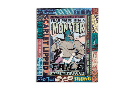 <p>Live & Let Faile</p>  <p>Acrylic and Silkscreen Ink on Wood, Steel Frame. 20.25 x 24.25 x 2.5 Inches. (51 x 61 x 6 cm.)</p>