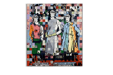 <p>Fashions Last Stand</p>  <p>Acrylic, Silkscreen Ink on Wood in Aluminum Frame. 48 ½ x 42 ½ Inches.</p>