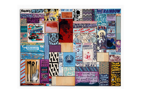 <p>Double Dynamite Vengeance</p>  <p>Acrylic, Silkscreen Ink on Wood, Copper Plates in Steel Frame. 84 ¼ x 64 ¼ Inches Signed Faile 2011</p>