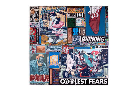 <p>Coolest Fears Within Acrylic, Silkscreen Ink and Copper on Wood, Steel Frame Dimensions: 96in x 96in x 3in Signed, Faile 2013</p>
