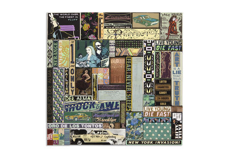 <p>The Finest FAILE Bros. <br/> Acrylic, Silkscreen Ink, Copper and Fabirc on Wood/Carved Wood, in Steel Frame<br/> 49 in. x 49 in. x 03 in.<br/> 2014</p>